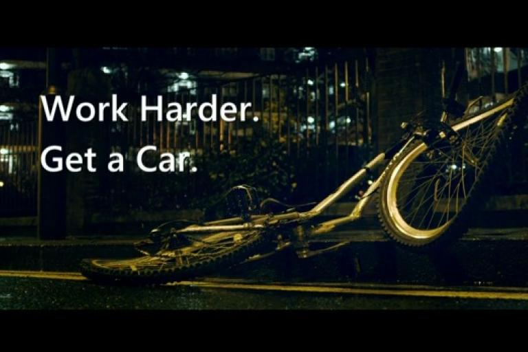 Work Harder. Get a Car. (BBC Top Gear still)