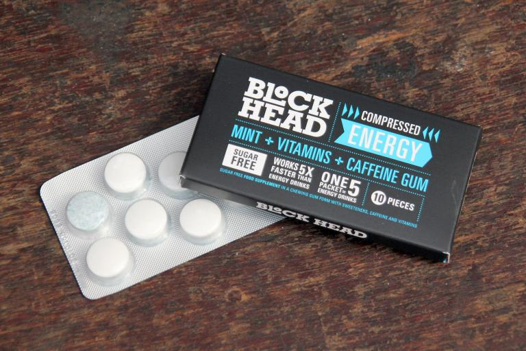 Block Head Compressed Energy Caffeine Gum