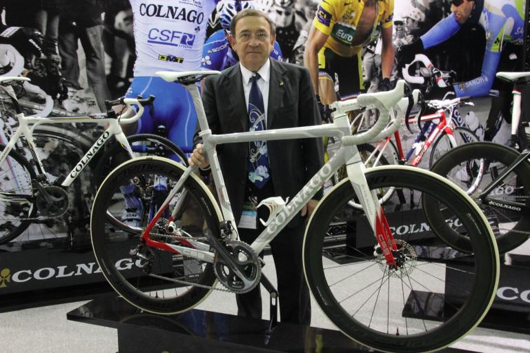 Colnago C59 with discs presented in Taipei by Ernesto Colnago