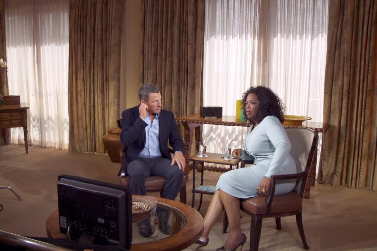 Lance Armstrong and Oprah Winfrey Photo by Maryse Alberti, Courtesy of Sony Pictures Classics