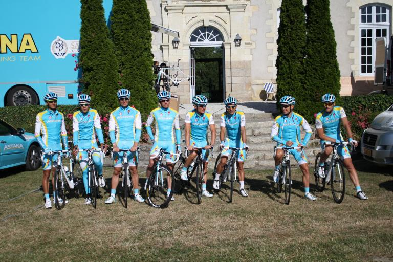 Tour Tech 2011 road trip - Astana team line up.jpg