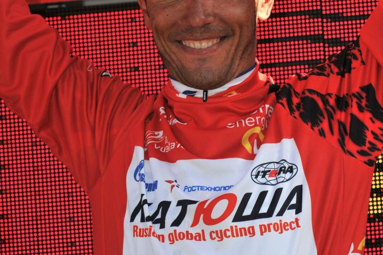 Joaquin Rodriguez takes red in the 2010 Vuelta (copyright- Unipublic:Graham Watson)