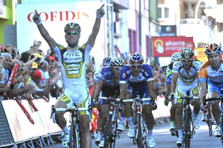Mark Cavendish gets his first ever Vuelta win in Lleida on Stage 12 of the 2010 race (copyright Unipublic:Graham Watson)