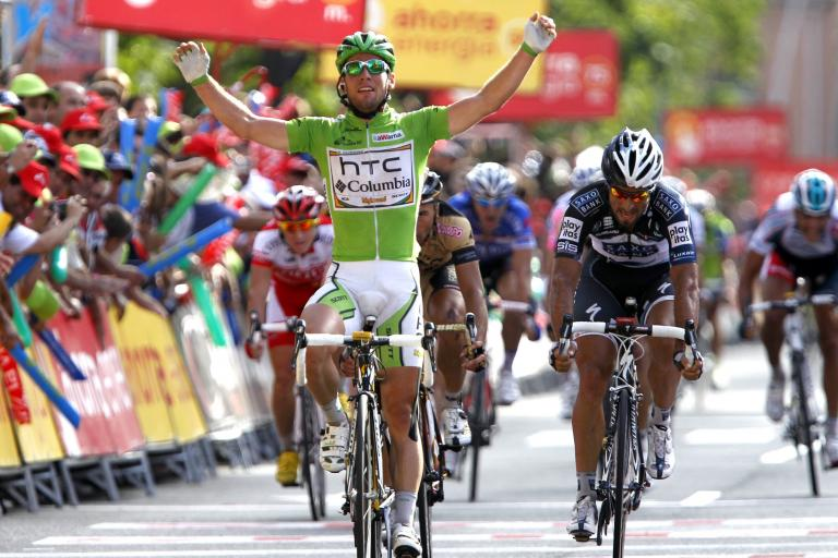 Mark Cavendish wins Stage 18 of the 2010 Vuelta (copyright Unipublic:Graham Watson)