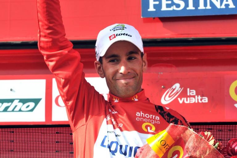 Vincenzo Nibali back in red after Stage 17 of the 2010 Vuelta (copyright - Unipublic:Graham Watson)