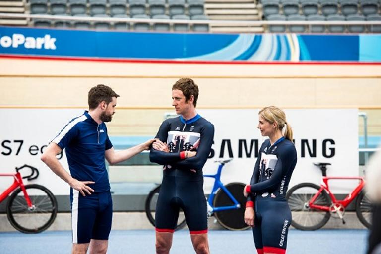 Jack Whitehall, Bradley Wiggins and Becky James (picture Samsung UK).jpg