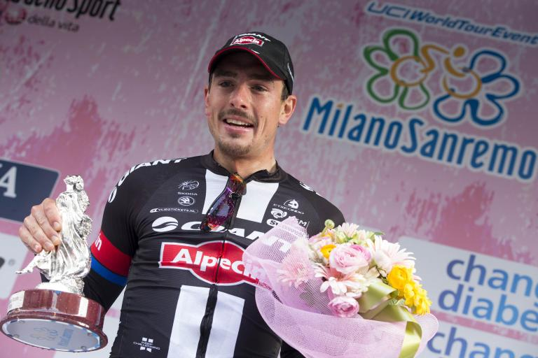 John Degenkolb after winning 2015 Milan-San Remo (picture ANSA, Claudio Peri).jpg