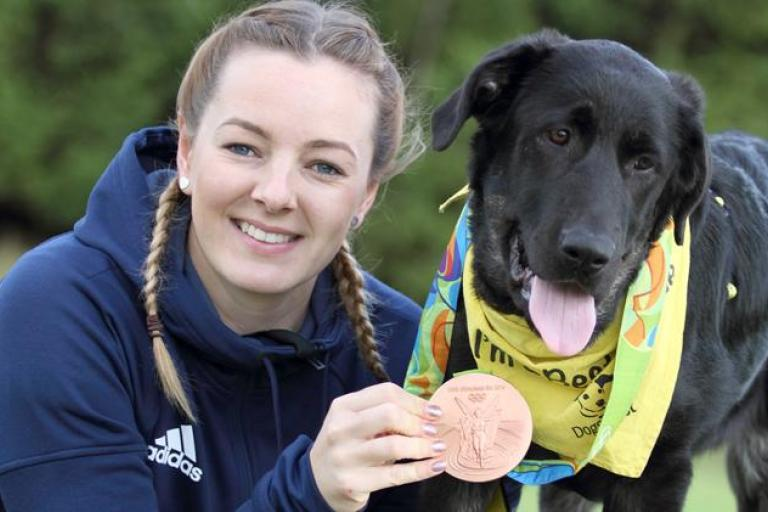 Katy Marchant with Katy the dog (picture credit Dogs Trust).jpg