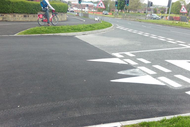 Leeds Bradford cycle superhighway give way at side street.jpg