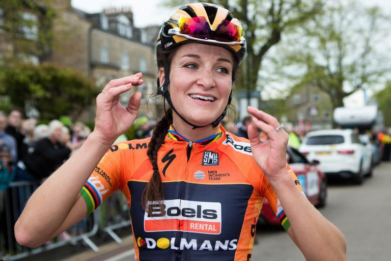 Lizzie Deignan after winning 2017 Asda Women's Tour de Yorkshire (picture SWPix.xom).jpg