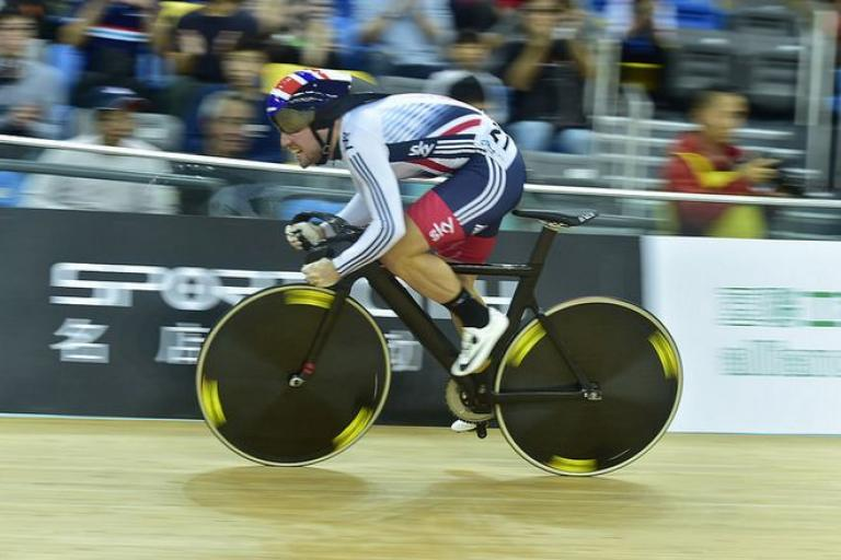 Mark Cavendish at Hongkong Track World Cup (copyright Britishcycling.org_.uk).JPG
