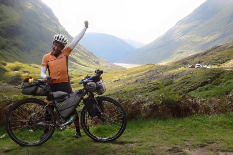 Markus Stitz in Glencoe near end of his round the world ride (source Markus Stitz on Facebook).jpg