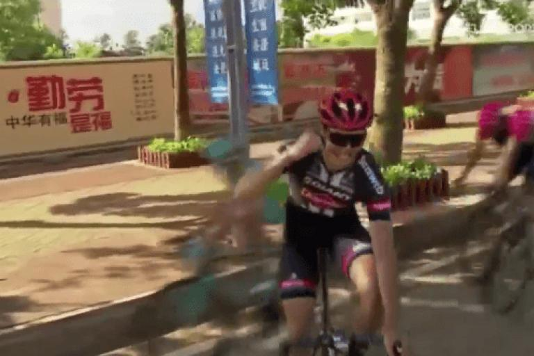 Max Walscheid Tour of Hainan post-line crash video still.PNG