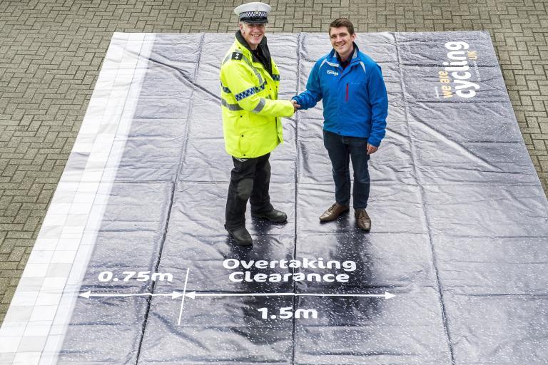 North Yorkshire Police Insp Dave Barf with Cycling UK's David Murray – photo credit JoolzeDymond-CyclingUK.jpg