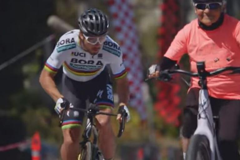 Peter Sagan versus Grandma Joan YouTube still.JPG