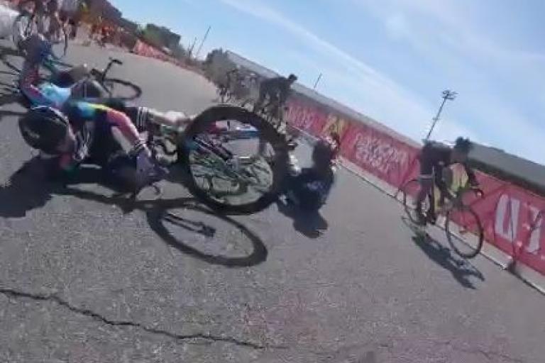 Red Hook Crit Qualidfiers crash video still - via Biketuhl on Instagram.JPG