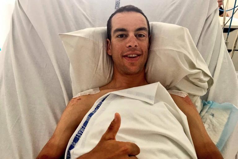 Richie Porte in hospital (picture via BMC Racing on Twitter).jpg