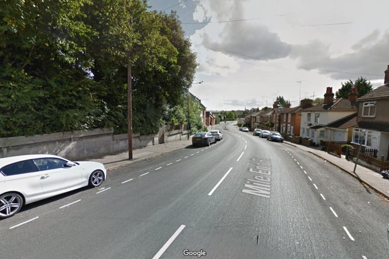 Mile End Road, Colchester (from Google Maps)