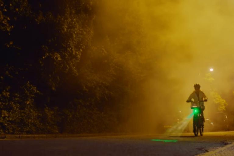 Jess Ennis-Hill on Blaze Laserlight Santander Cycles bike (video still)