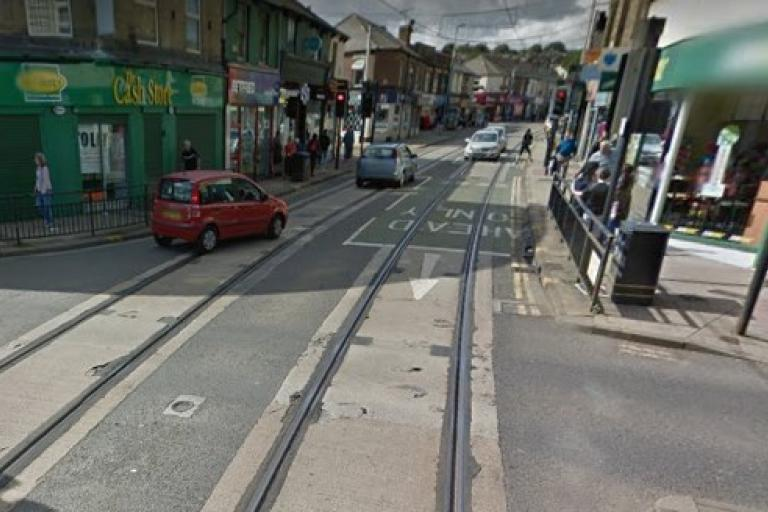 Sheffield tram tracks (via StreetView).jpg