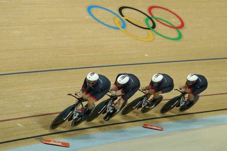 Team GB men's team pursuit on way to gold at Rio Olympics 2016 (copyright Britishcycling.org_.uk).jpg