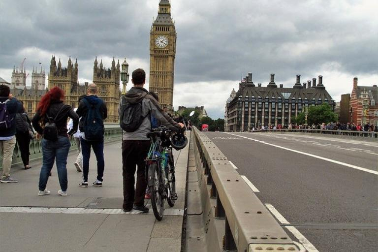 Westminster Bridge Security Barrier (CC licensed by David Holt via Flickr).jpg