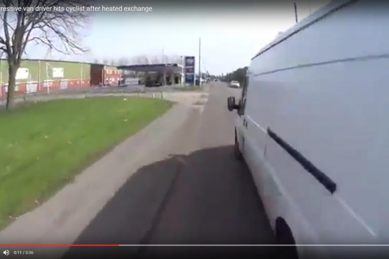 White van close overtake