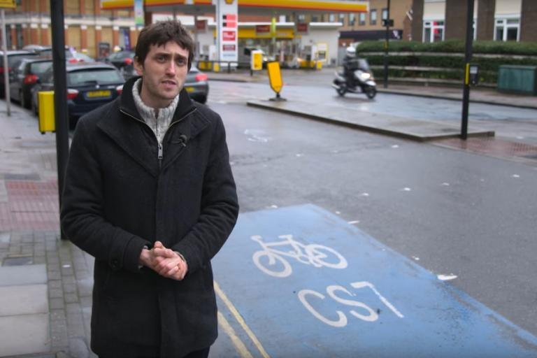 Why isn't cycling normal in London (via YouTube).jpg