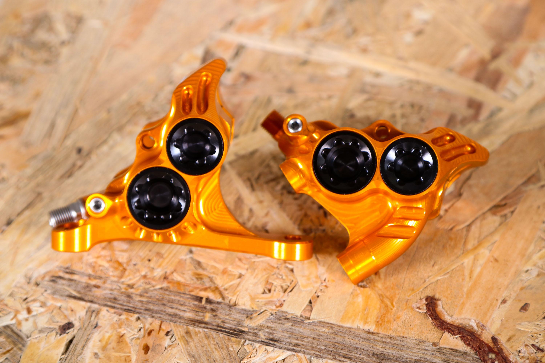 Details about  /Hope RX4 Flat Mount Disc Brake Caliper Orange