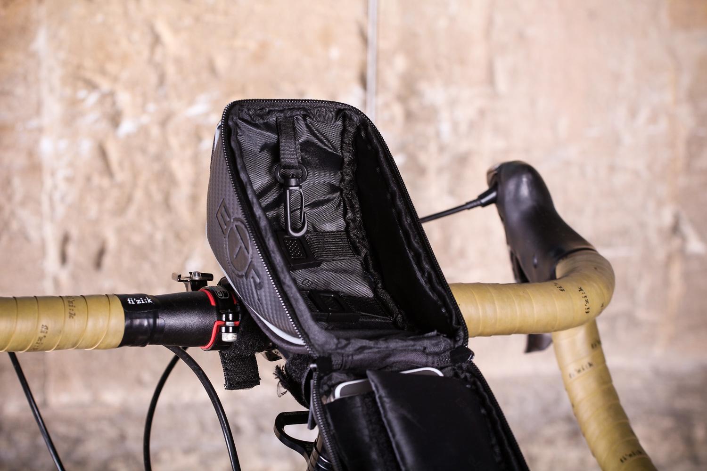 Bike Handlebar Riding Bag Touch Screen Phone Holder Bicycle Front Storage Pocket