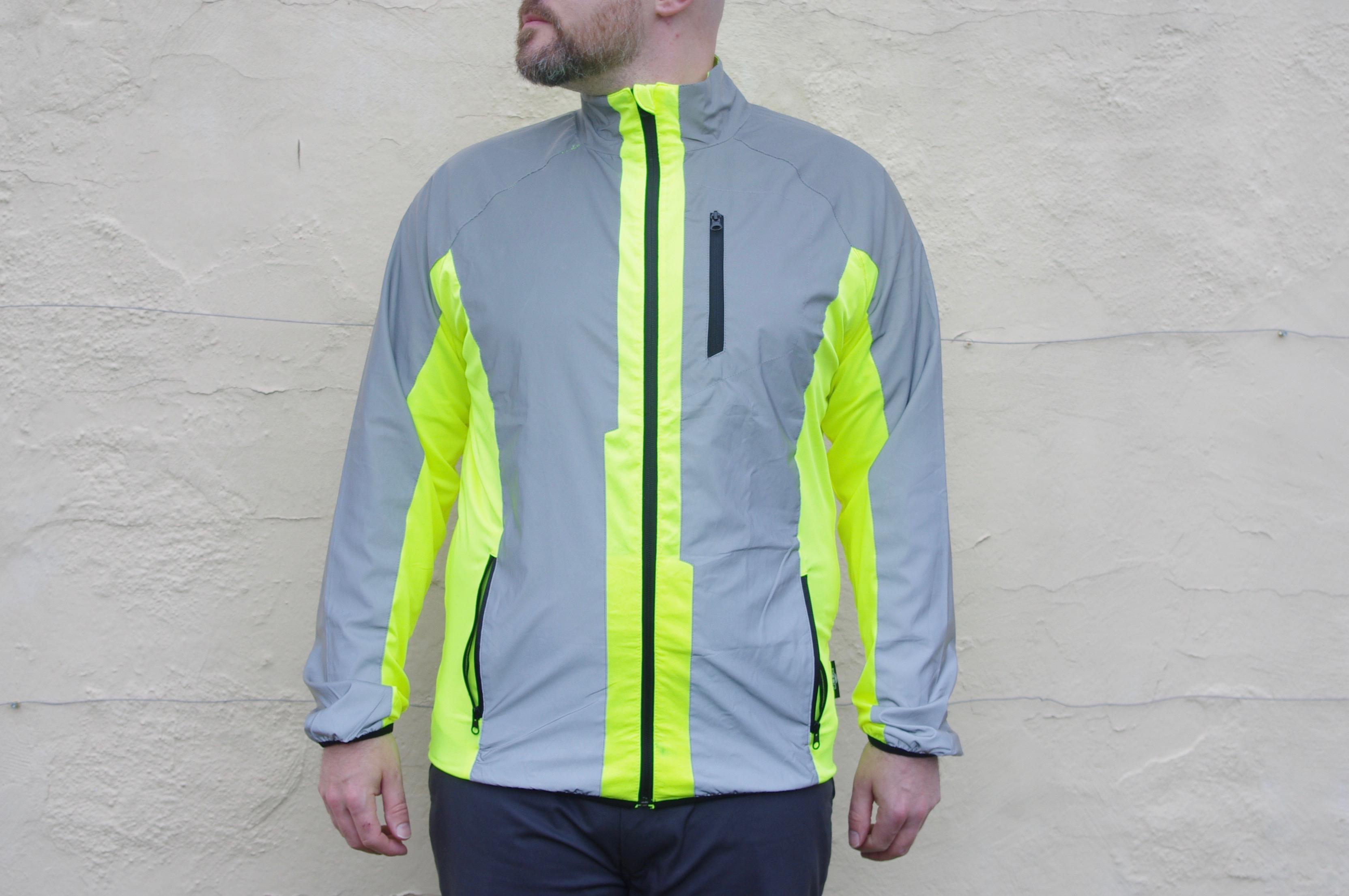 running Waterproof reflective high visibility cycling jacket riding