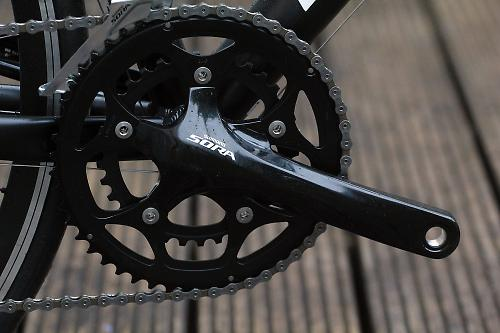 e29d1b5fe4e We tested the 50/34 chainset; a triple (50/39/30) and a cyclo-cross double  (46/34) are also available. Sora uses Shimano's Hollowtech 2 bottom bracket  ...