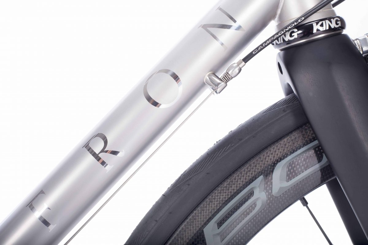 Dan Craven\'s Saffron stainless steel race bike for the Commonwealth ...