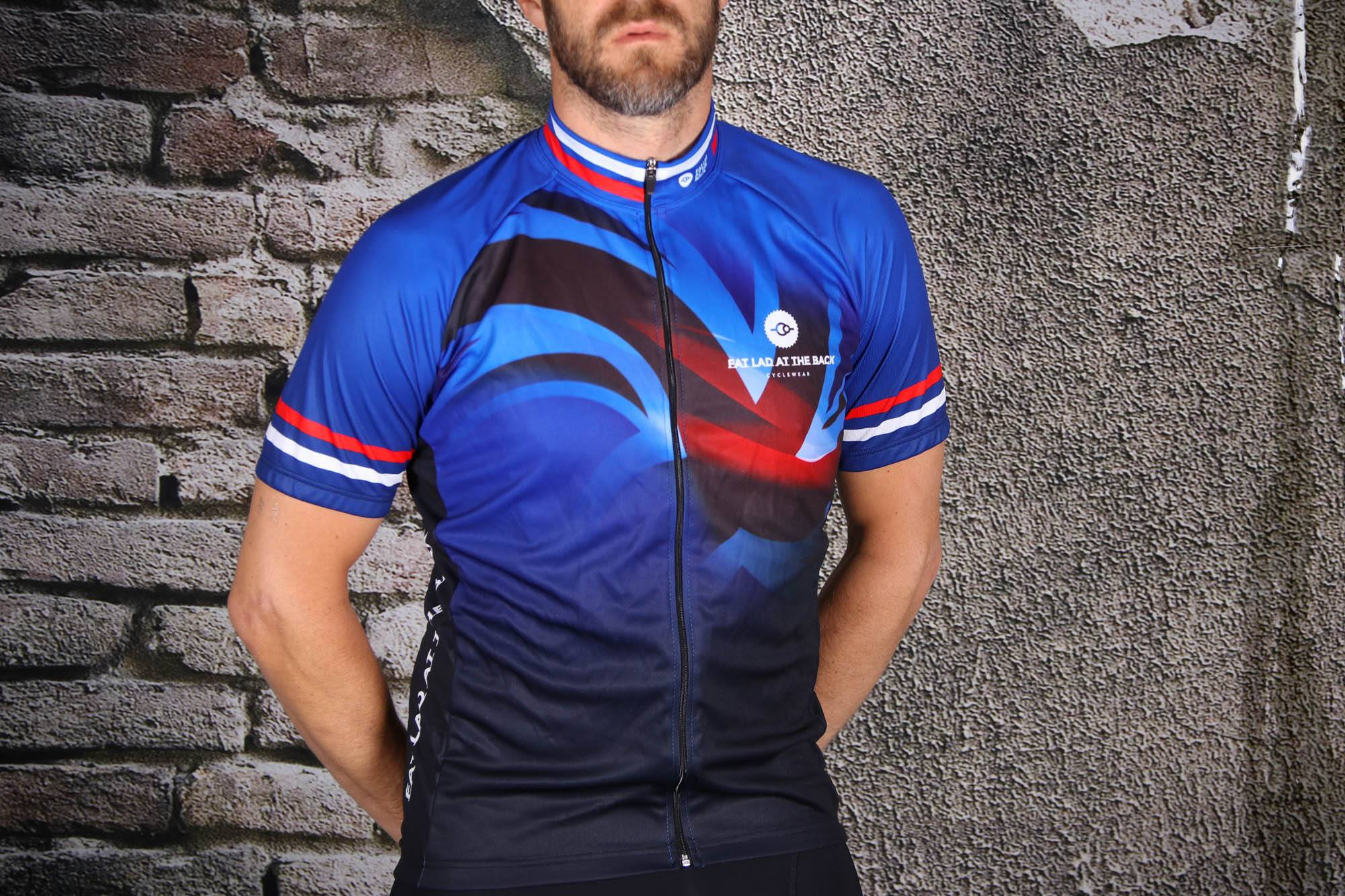 d7ec14c0a Review  Fat Lad At The Back Men s Short Sleeve Union Jack Cycling .