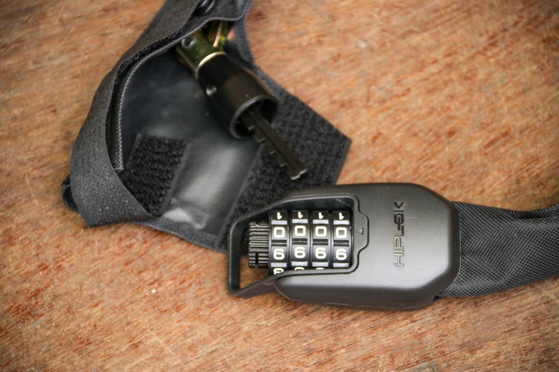 Hiplok Spin Wearable 4 Digit Combination Chain Lock Black 6mm Chain 75cm Long