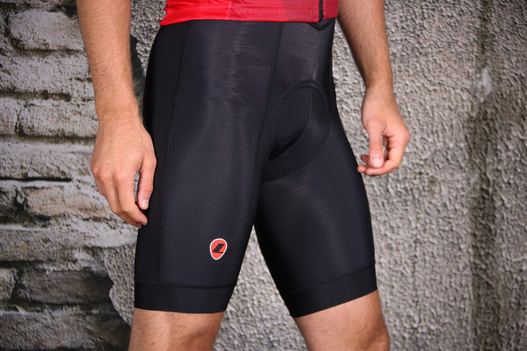 Lusso Pro 25 Coolmax 8 Panel Road MTB Mountain Bike Cycling Shorts in Black