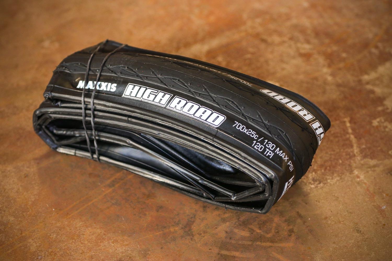 25C Tire Hypr K2 Bike Tyre Black 120TPI MAXXIS High Road Clincher 700 x 23C