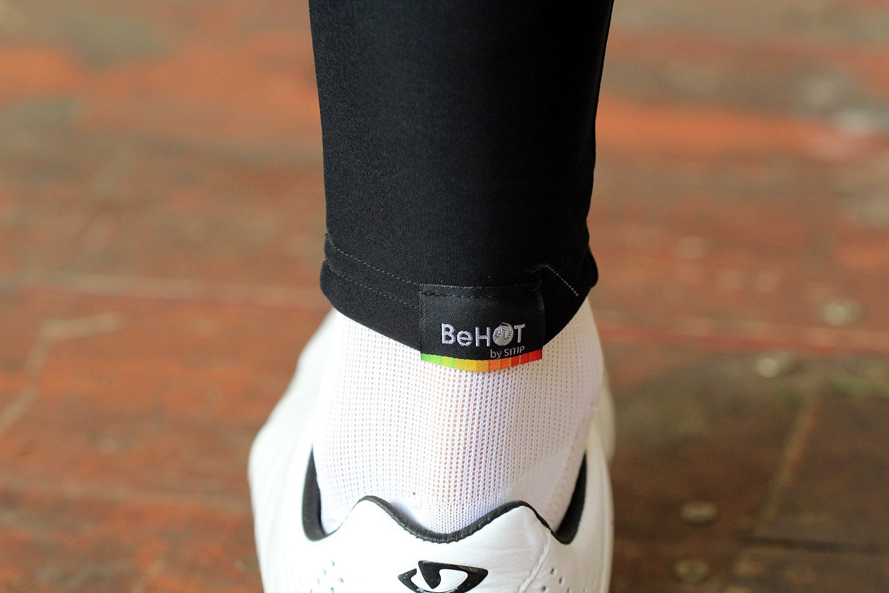 Cycling Knee Warmers Santini Totem Black Medium//Large Thermal Protection