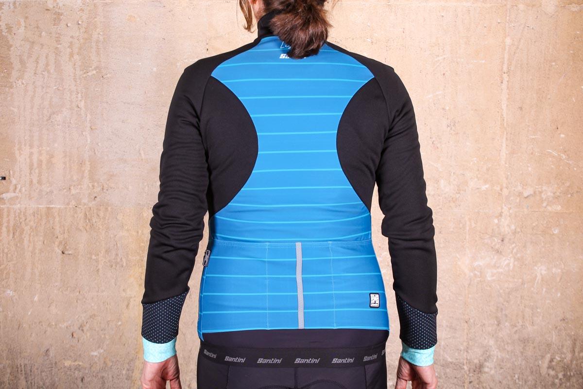 Winter Jacket Santini Man Spinning Cycling Color Blue Black