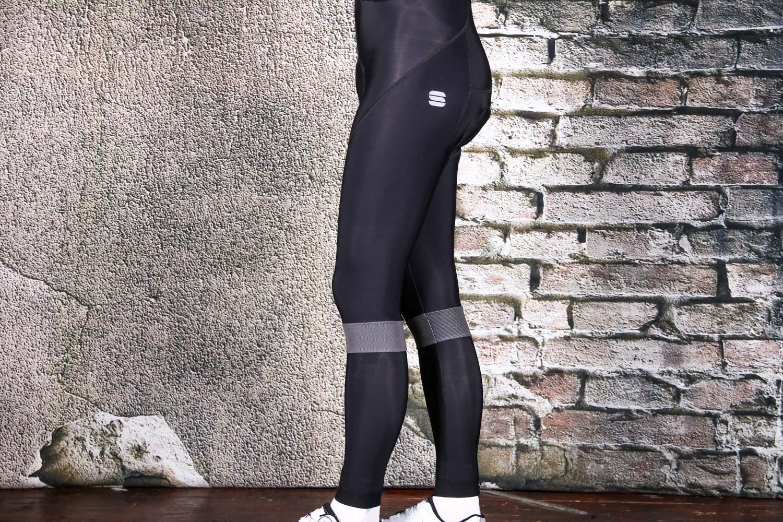 Sportful Men/'s Bodyfit Pro LTD Bibshort Black Black//Green Orange Legband Large