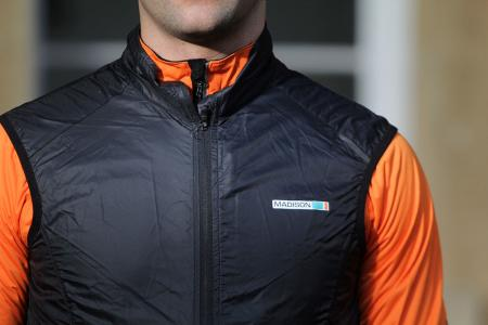 Madison Road Race Mens Windproof Shell Gilet - chest.jpg