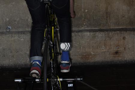 Resolute Bay RB2 Indigo International Edition cycling Jeans - trun up reflecting.jpg
