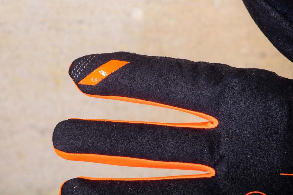 100% Brisker Cold Weather Glove Fluo Orange - finger.jpg