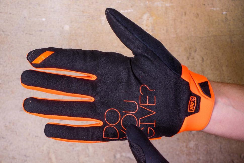 100% Brisker Cold Weather Glove Fluo Orange - palm.jpg