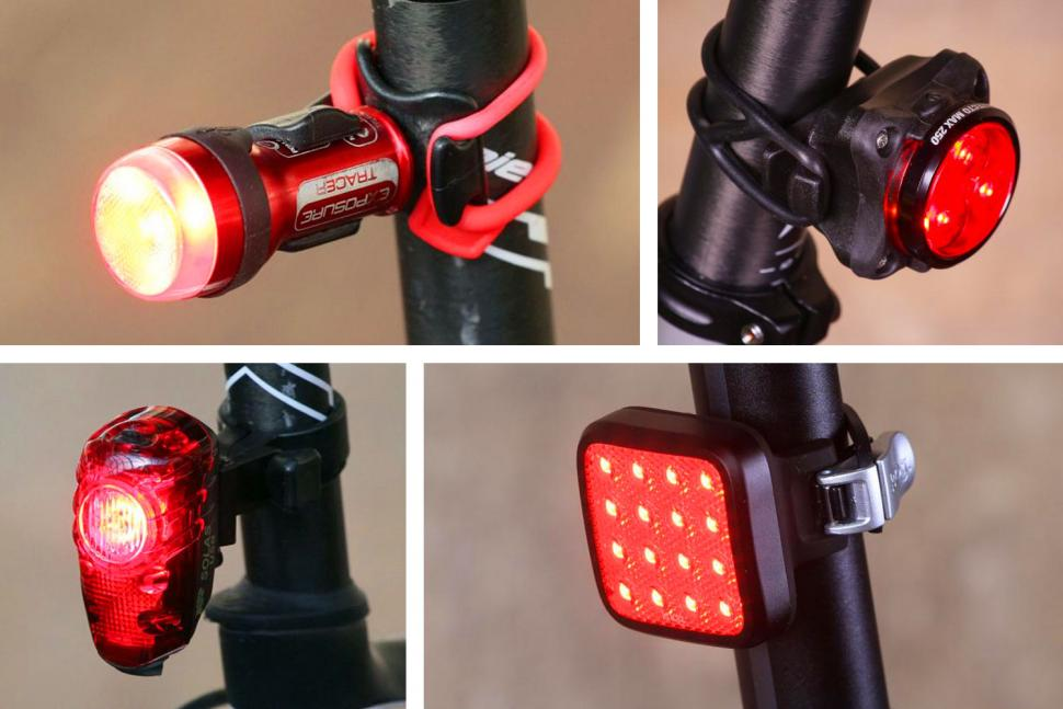 Pro Cycling Bicycle Red 2 Led Tail Rear Bike Flashing Light Safety Warning Lamp