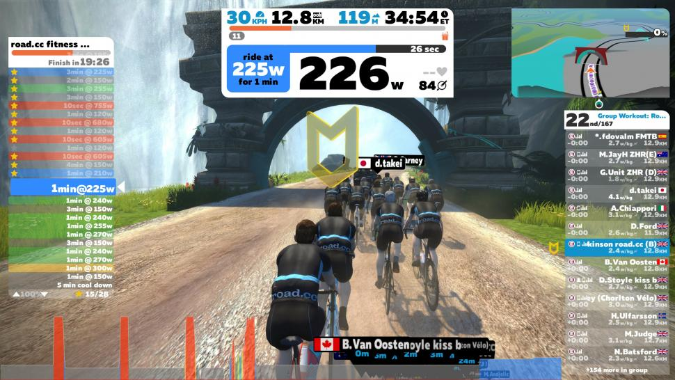 Zwift road.cc group workout