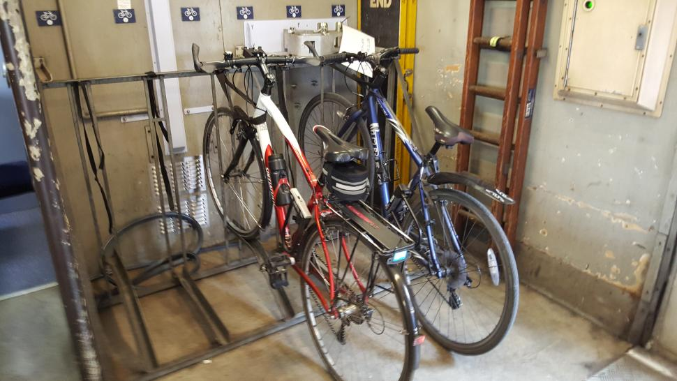 Bikes on GWR train (copyright Laura Laker)
