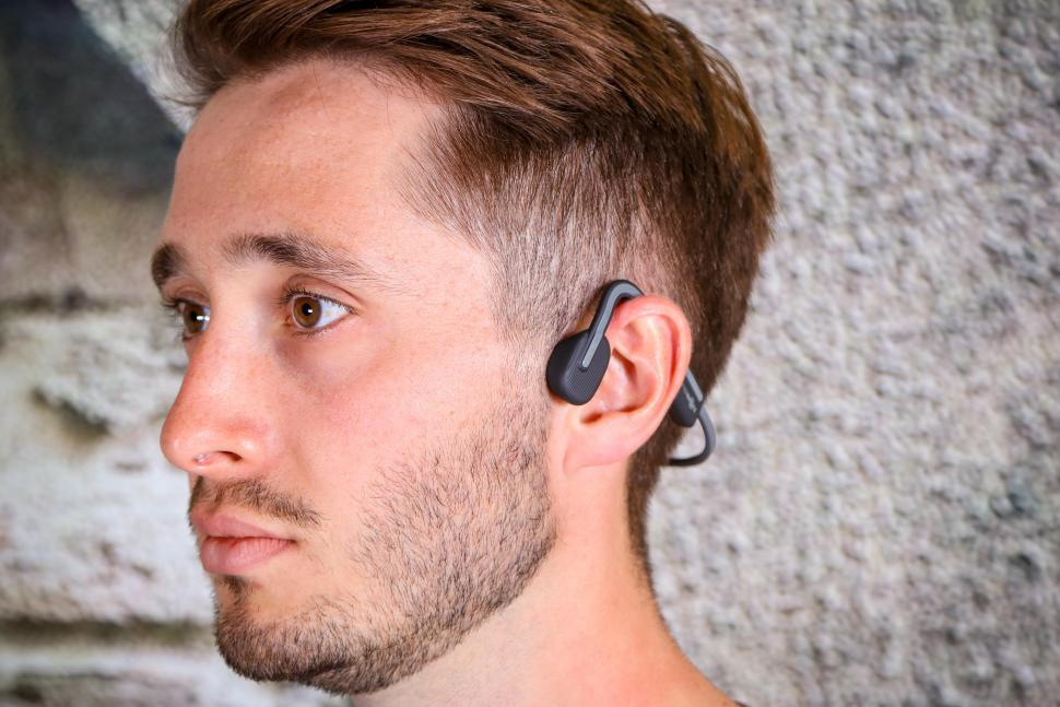 2020 Aftershockz OPENMOVE Wireless Bone Conduction Headphones - worn2.jpg