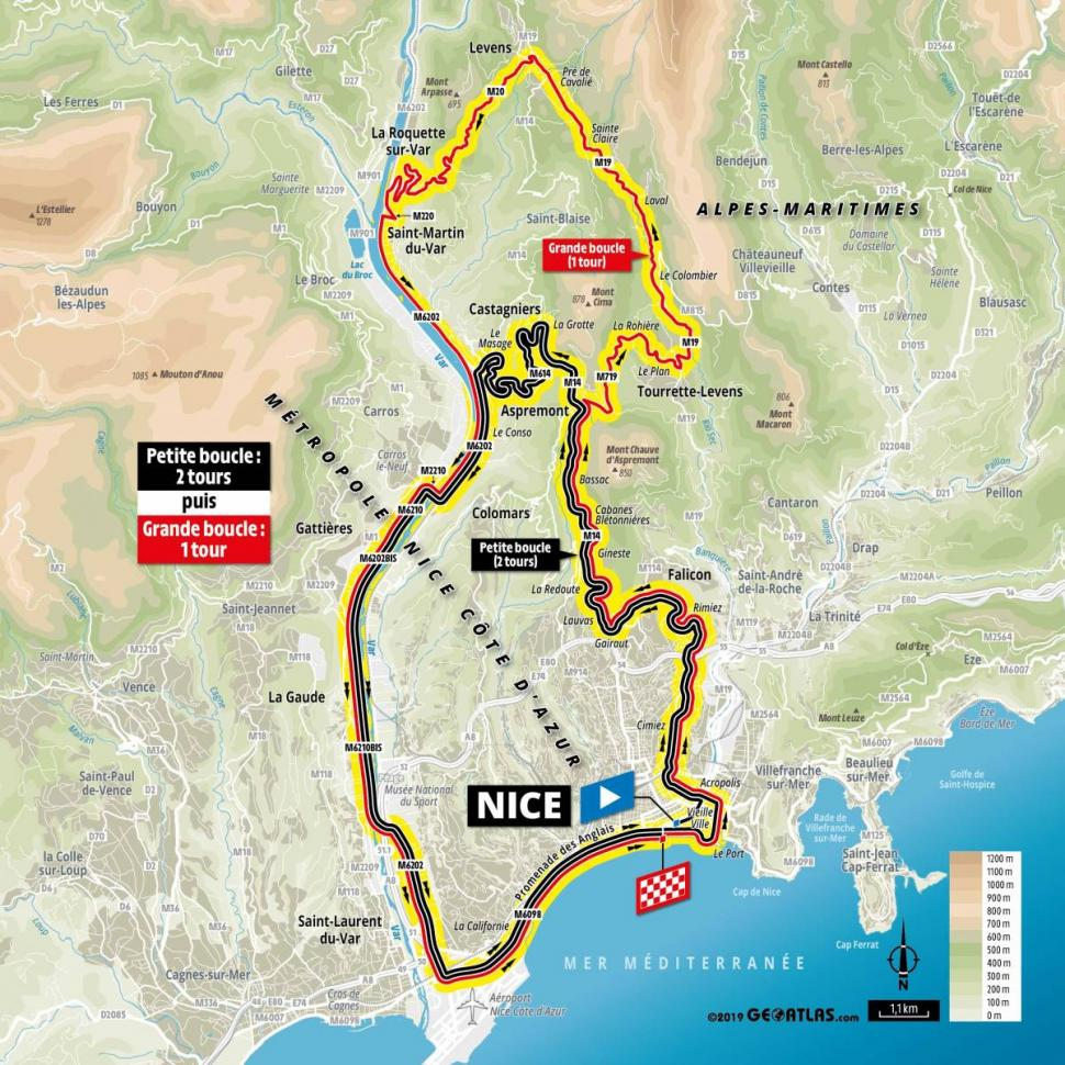Mountains Of France Map.2020 Tour De France To Head Into Mountains On Second Day As Nice
