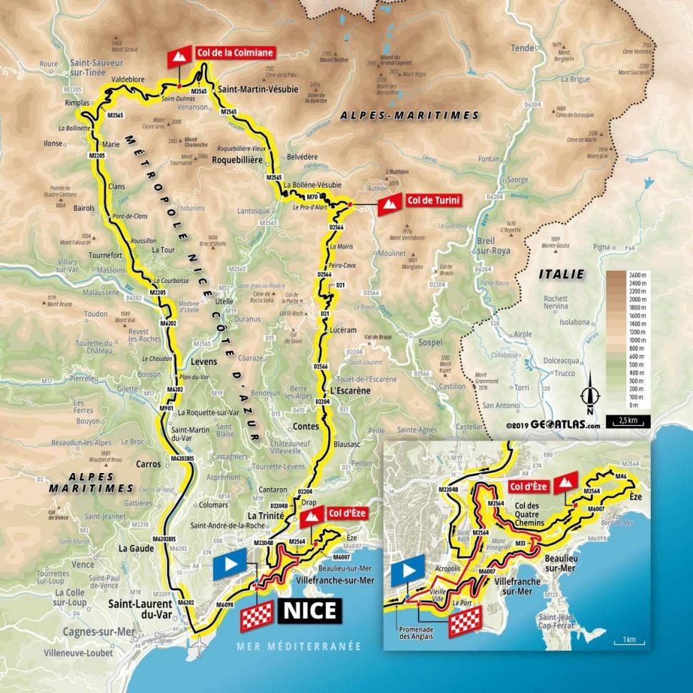 Map Of France With Mountains.2020 Tour De France To Head Into Mountains On Second Day As Nice
